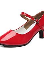 "cheap -Women's Modern Patent Leather TPU Heel Practice Cuban Heel Red 2"" - 2 3/4"" Customizable"
