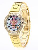 abordables -Hombre Mujer Reloj Casual Chino Cuarzo N/A Acero Inoxidable Banda Minimalista Plata Dorado