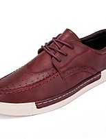 cheap -Men's Shoes PU Spring Fall Comfort Oxfords for Casual Burgundy Brown Gray Black