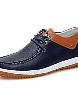 economico -Da uomo Scarpe Nappa Pelle Primavera Autunno Comoda Sneakers per Casual Bianco Blu scuro