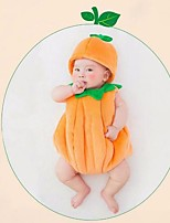 cheap -Baby Unisex Halloween Solid Clothing Set,Faux Fur Winter Active Sleeveless Orange