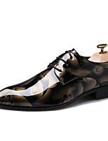 Недорогие -Для мужчин обувь Оксфорд Весна Осень Удобная обувь Туфли на шнуровке для Для вечеринки / ужина Золотой Морской синий Серебряный Красный