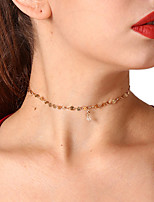 cheap -Women's Circle Heart Sweet Choker Necklace Pendant Necklace Crystal Copper Choker Necklace Pendant Necklace , Party Daily