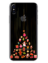 billiga -fodral Till Apple iPhone X / iPhone 8 Genomskinlig / Mönster Skal Jul Mjukt TPU för iPhone X / iPhone 8 Plus / iPhone 8