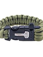 economico -braccialetto di sopravvivenza Campeggio / Escursionismo / Speleologia Campeggio e hiking All'aperto Fibra di nilon Metallico 1 pezzi