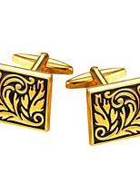 Недорогие -Square Shape Серебряный Золотой Запонки Платиновое покрытие Позолота Для отдыха Бижутерия Для вечеринок Муж. Бижутерия
