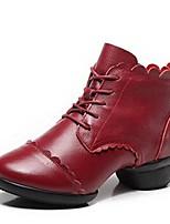 """economico -Da donna Sneakers da danza moderna Nappa Stivali Mezzepunte All'aperto Basso Nero Rosso 1 """"- 1 3/4"""" Personalizzabile"""