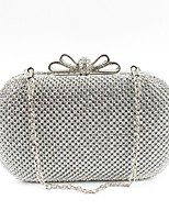 cheap -Women Bags Metal Evening Bag Crystal Detailing for Event/Party All Season Silver Black Gold