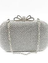 preiswerte -Damen Taschen Metall Abendtasche Kristall Verzierung für Veranstaltung / Fest Alle Jahreszeiten Gold Schwarz Silber