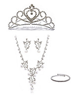 cheap -Women's Chain Necklace Bridal Jewelry Sets Rhinestone Imitation Diamond Alloy Butterfly Fashion European Wedding Party Body Jewelry 1