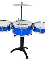 cheap -Drum Set Toy Instruments Toys Round Drum kit Jazz Drum Engineering Plastics PU Leather/Polyurethane Leather Pieces Boys Girls' Gift