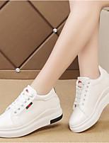 economico -Da donna Scarpe PU (Poliuretano) Primavera Comoda Sneakers Footing Ballerina Punta chiusa per Casual Bianco Nero