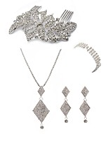 cheap -Women's Hair Combs Bridal Jewelry Sets Rhinestone Fashion European Wedding Party Imitation Diamond Alloy Geometric Body Jewelry 1