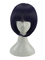 cheap -Women Synthetic Wig Short Straight Purple/Blue Bob Haircut Cosplay Wig Natural Wigs Costume Wig