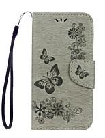 abordables -Coque Pour Samsung Galaxy S8 Plus S8 Portefeuille Porte Carte Avec Support Clapet Relief Coque Intégrale Papillon Dur Cuir PU pour S8