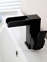 Antique Centerset Waterfall Ceramic Valve Single Handle One Hole Oil-rubbed Bronze , Bathroom Sink Faucet