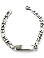 cheap -Men's Women's Chain Bracelet , Metallic Basic Stainless Steel , Jewelry Daily Formal