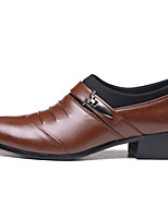 cheap -Men's Shoes Synthetic Microfiber PU Spring Fall Comfort Loafers & Slip-Ons for Casual Brown Black
