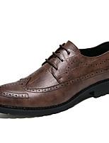 Для мужчин обувь Натуральная кожа Материал на заказ клиента Дерматин Зима Осень Удобная обувь Формальная обувь Туфли на шнуровке для Для