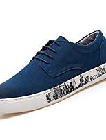 Недорогие -Для мужчин обувь Нубук Замша Весна Осень Удобная обувь Кеды для Повседневные Черный Синий Хаки