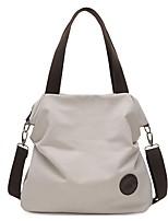 cheap -Women Bags Canvas Shoulder Bag Zipper for Casual Outdoor Winter Fall Coffee Gray Black White Blue