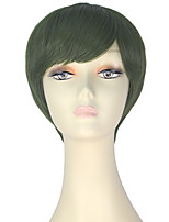 cheap -Women Synthetic Wig Short Straight Green Lolita Wig Party Wig Halloween Wig Carnival Wig Cosplay Wig Natural Wigs Costume Wig