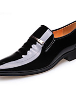 cheap -Men's Shoes Patent Leather Spring Fall Comfort Loafers & Slip-Ons for Casual Brown Black