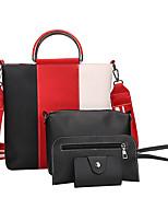preiswerte -Damen Taschen PU Bag Set 4 Stück Geldbörse Set Reißverschluss für Normal Alle Jahreszeiten Blau Schwarz Grau Braun