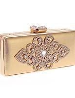 preiswerte -Damen Taschen PC Abendtasche Knöpfe Kristall Verzierung für Hochzeit Veranstaltung / Fest Alle Jahreszeiten Gold Schwarz Silber