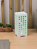 abordables -Simple Protección para los Ojos Lámpara de Mesa Para Sala de estar Plástico 220v Blanco Melocotón Verde claro