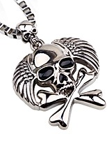 cheap -Men's Skull Gothic Fashion Pendant Necklace Chain Necklace , Alloy Pendant Necklace Chain Necklace , Holiday Going out
