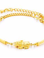 abordables -Homme Femme Chaînes & Bracelets Bracelet Animaux Asiatique Cadeau Adorable Mode Cuivre Plaqué or Bijoux Noël Quotidien