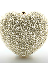 cheap -Women Bags PU Evening Bag Pearl Detailing for Wedding Event/Party All Season White