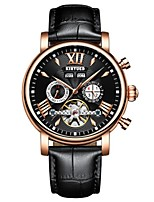 cheap -Men's Fashion Watch Dress Watch Skeleton Watch Swiss Automatic self-winding Calendar / date / day Chronograph Water Resistant / Water