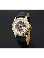 cheap -Men's Fashion Watch Dress Watch Wrist watch Chinese Automatic self-winding Hollow Engraving Leather Band Vintage Casual Black