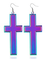 cheap -Women's Drop Earrings , Simple Fashion Alloy Cross Jewelry Daily Going out