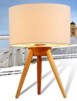 economico -Tradizionale/Classico Anti-riflesso Lampada da tavolo Per Salotto Legno/bambù 220V Bianco