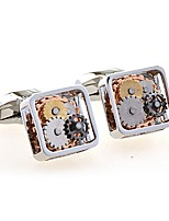 cheap -Geometric Black White Cufflinks Copper European Wedding Daily Costume Jewelry