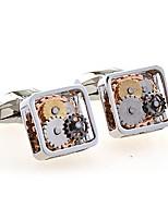 Geometric Black White Cufflinks Copper European Wedding Daily Costume Jewelry