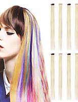 Недорогие -neitsi 10pcs 20 '' клип в изящных синтетических наращиваниях волос прямое платье для косплея