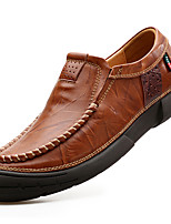 cheap -Men's Shoes Nappa Leather Spring Fall Formal Shoes Loafers & Slip-Ons for Casual Party & Evening Brown