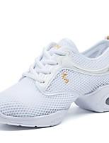 """economico -Da donna Sneakers da danza moderna Tulle Sneaker All'aperto A fantasia Piatto Bianco 1 """"- 1 3/4"""" Personalizzabile"""