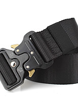 cheap -Men's Alloy Waist Belt,Brown Black Army Green Work Casual Solid Pure Color