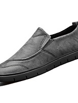 cheap -Men's Shoes Synthetic Microfiber PU Spring Fall Moccasin Light Soles Loafers & Slip-Ons for Casual Khaki Gray Black