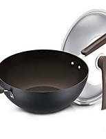 economico -Plastica Acciaio inossidabile Lega Piatto Pan Pot multiuso,32*9.3