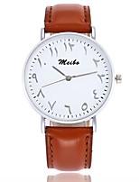 Недорогие -Жен. Модные часы Китайский Кварцевый Крупный циферблат Кожа Группа На каждый день минималист Черный Белый Коричневый Розовый Бежевый