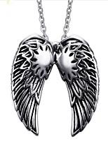 cheap -Men's Feather Vintage Pendant Necklace , Titanium Pendant Necklace , Gift Daily