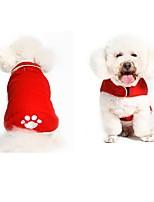 abordables -Chien Manteaux Vêtements pour Chien Animaux Le style mignon Motif Animal Noir Rouge Costume Pour les animaux domestiques