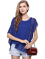 cheap -Women's Holiday Going out Cute Active Sexy Street chic All Seasons Blouse,Solid Round Neck Sleeveless Polyester Medium