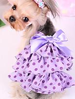 Hund Kleider Hundekleidung Lässig/Alltäglich Polkadot Purpur Rosa Kostüm Für Haustiere
